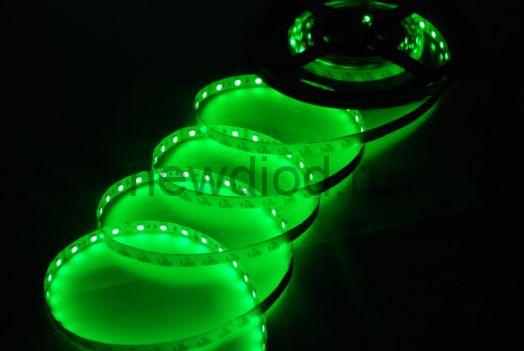 СД лента 14.4Вт SMD5050-60LED 1000Lm 12V IP68 (зеленый) MS