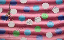 Цветные пузыри на красной полоске кулирка ринг