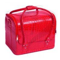 Сумка-чемодан мастера Crocodille красная, 32х28х25 (см)