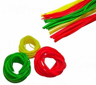 """Кембрик """"Три Кита"""" d=1,0-2,0 флуоресцентный зелёный (20шт*10см)"""