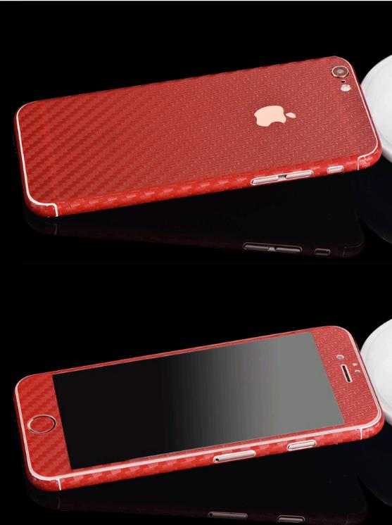 Карбоновая пленка для iphone 6/6s (красная)