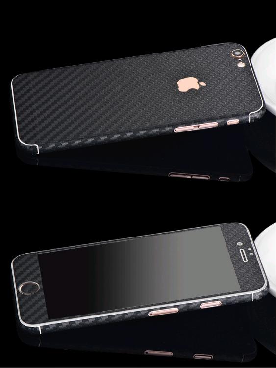 Карбоновая пленка для iphone 6/6s (черная)
