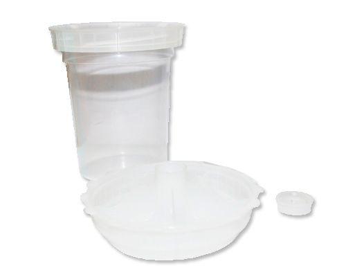Jeta Flexi-cup Одноразовый пластиковый бачок для краскопульта и крышка системы JPPS со встроенным ситечком