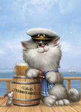 Почтовая открытка Морячок