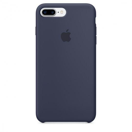 Silicone Case для iPhone 7+,iPhone 8+ (Тёмно-синий)