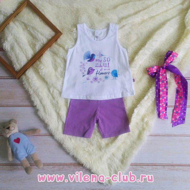 """Комплект для девочки """"Райский сад"""" (майка+шортики)"""