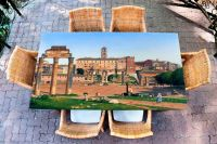 Наклейка на стол - Вид на форум Рим | Купить фотопечать на стол в магазине Интерьерные наклейки