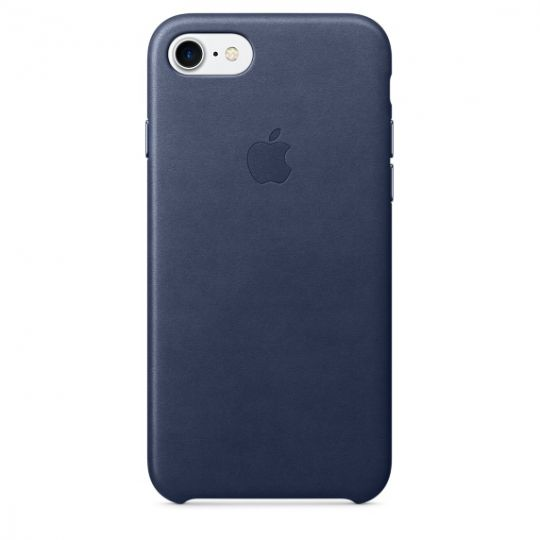 Apple Leather Case для iPhone 7/8 (Тёмно-синий)