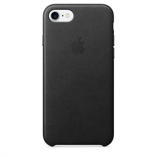Apple Leather Case для iPhone 7/8 (Чёрный)