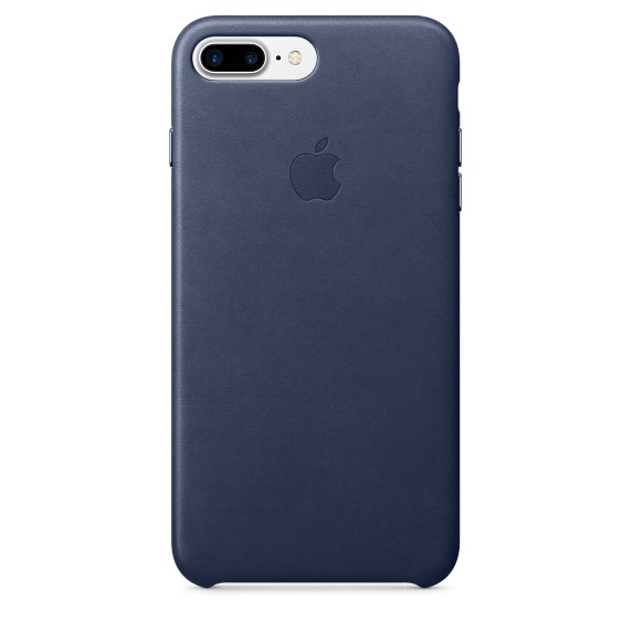 Apple Leather Case для iPhone 7+/8+ (Тёмно-синий)