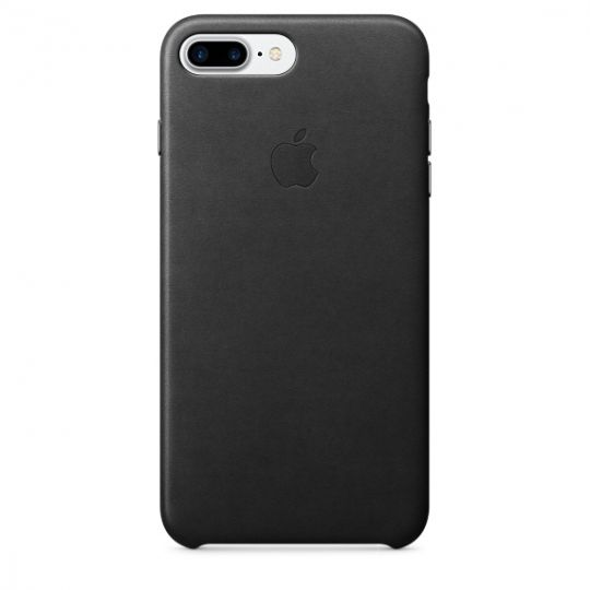 Apple Leather Case для iPhone 7+/8+ (Чёрный)