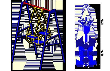 Качели-лодочка К-9