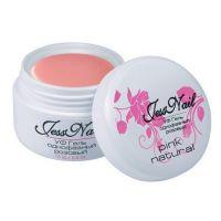Jess Nail гель для наращивания ногтей однофазный Натурально розовый pink natural, 15 мл
