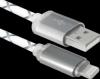 Распродажа!!! USB кабель ACH03-03LT cерый, LED, USB-Lightning, 1м