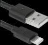 USB кабель ACH01-03BH черный, USB(AM)-Lightning, 1м