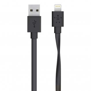 Кабель Belkin Mixit Flat Lightning to USB Cable (Черный)
