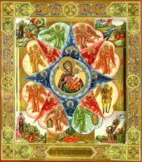 Неопалимая купина (рукописная икона с резьбой)