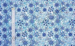 Темно-синие снежинки Дюспа 240Т