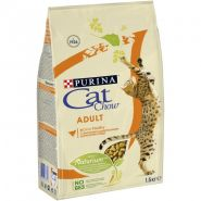 CAT CHOW Adult Poultry Корм для кошек с домашней птицей (1,5 кг)