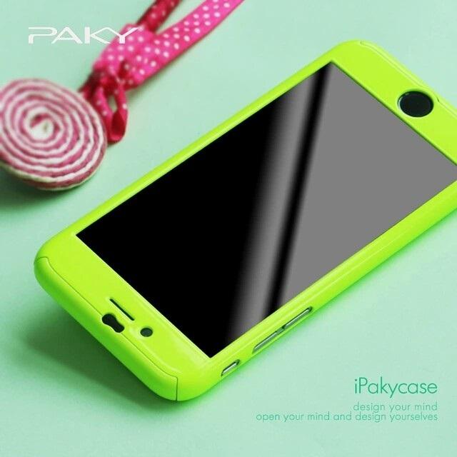Чехол Paky 360 градусов защиты для iPhone 7/8 (зеленый)