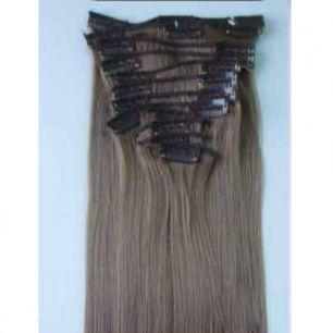 Искусственные термостойкие волосы на заколках №008 (55 см) - 7 заколок, 100 гр.