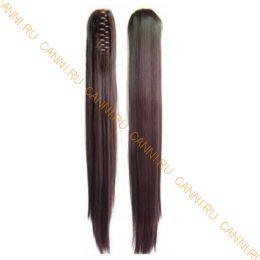 Искусственные термостойкие волосы на зажиме прямые №004 (55 см) -  150 гр.