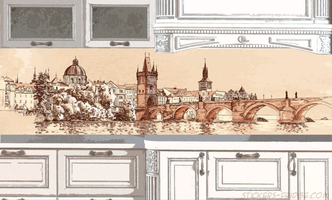 Фартук для кухни - Город вектор