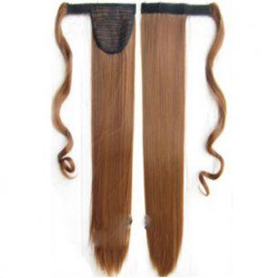 Искусственные термостойкие волосы - хвост прямые №030 (55 см) -  90 гр.