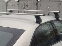Багажник на крышу Škoda Superb B8 2015-..., Атлант, аэродинамические дуги, опора Е