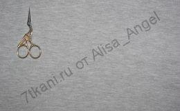 Серый меланж01 интерлок отрез 0,8м