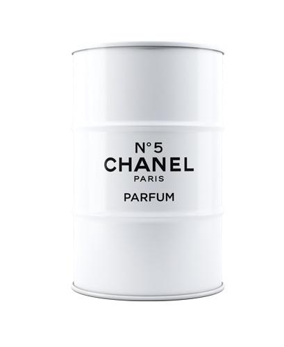 Декоративная бочка Chanel №5 white L