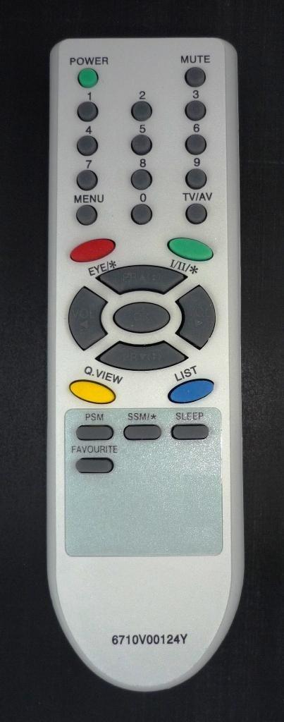 LG 6710V00124Y (TV) (21FC1RB, 21FS2CG, 21FS7RG-TS, 21FU2RG, CT-14F95M, RT-14CA56M, RT-21FB35, 15FC2AB, 21FB3RB-TH)