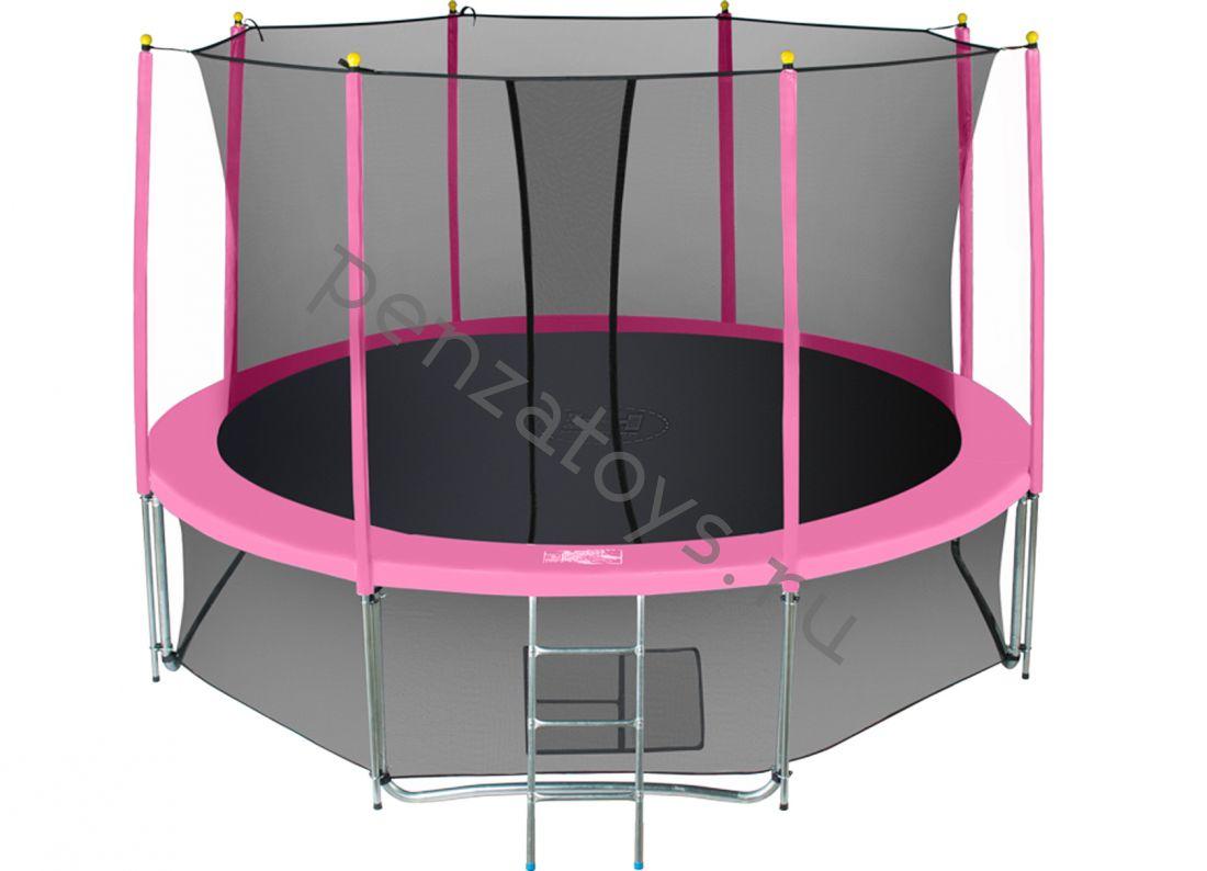 Батут с сеткой Classic Pink
