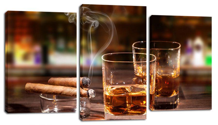Модульная картина Сигары и виски