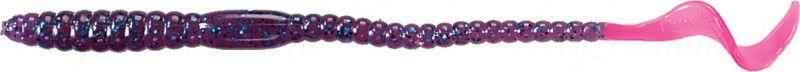 Червь MISTER TWISTER Phenom Worm 15 см уп. 20 шт. 136BS (виноградный с голубыми блестками / огненный хвост)