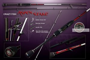 "Спиннинг Crazy Fish ASPEN STAKE AS622LT (2-10g 190cm 6'2"")"