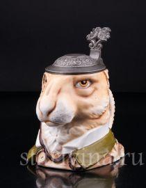 Кружка Кролик, 0,5 л, Von Schierholz, Германия, 1880-1906 гг