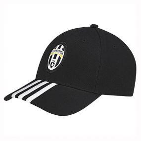 Бейсболка adidas Juventus Home 3 Stripes Cap чёрная