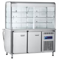 Прилавок-витрина холодильный ПВВ(Н)-70М-С-ОК с охлаждаемой камерой