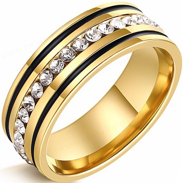Кольцо с природными цирконами