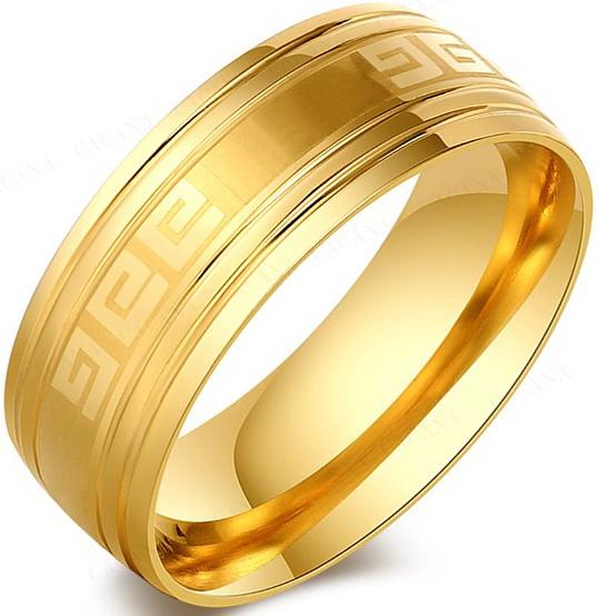Позолоченное кольцо с орнаментом Versace