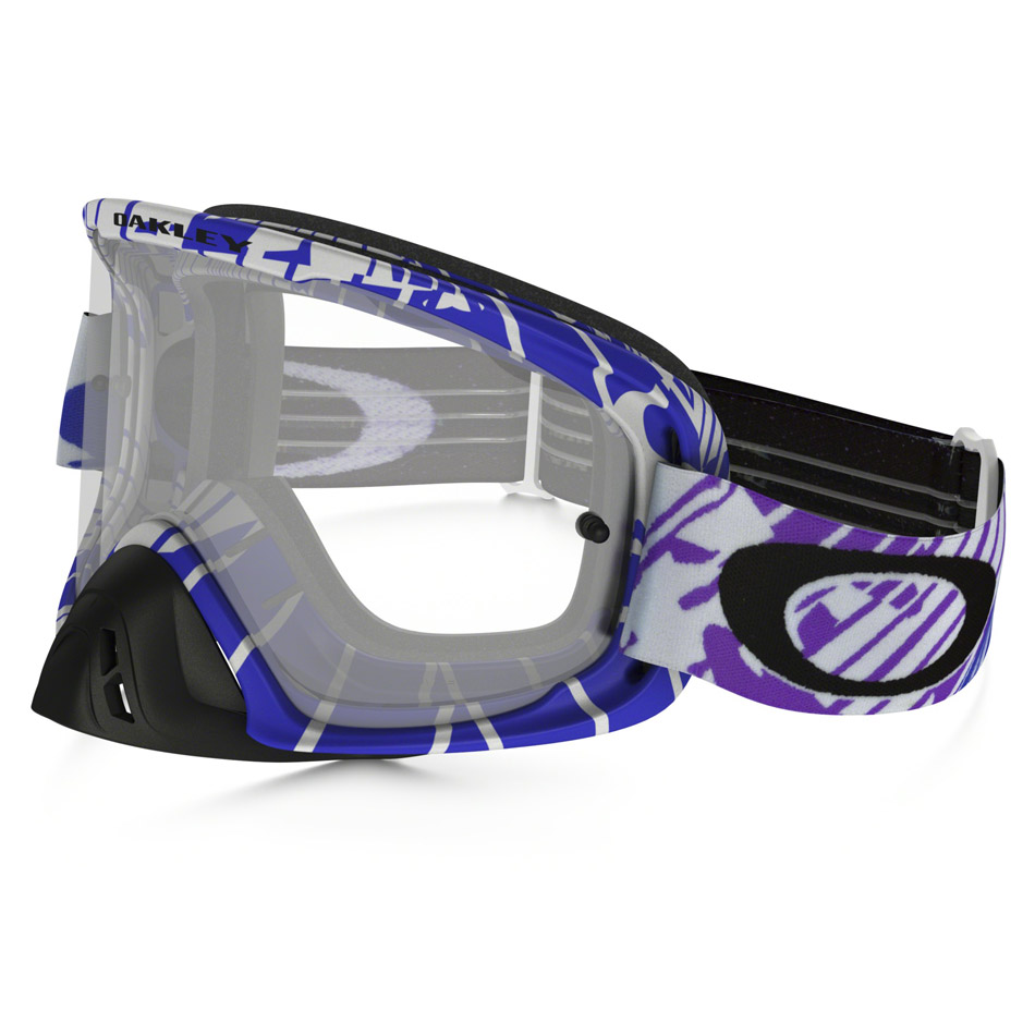 Oakley - O-Frame 2.0 Skull Rushmore очки сине-белые, линза прозрачная