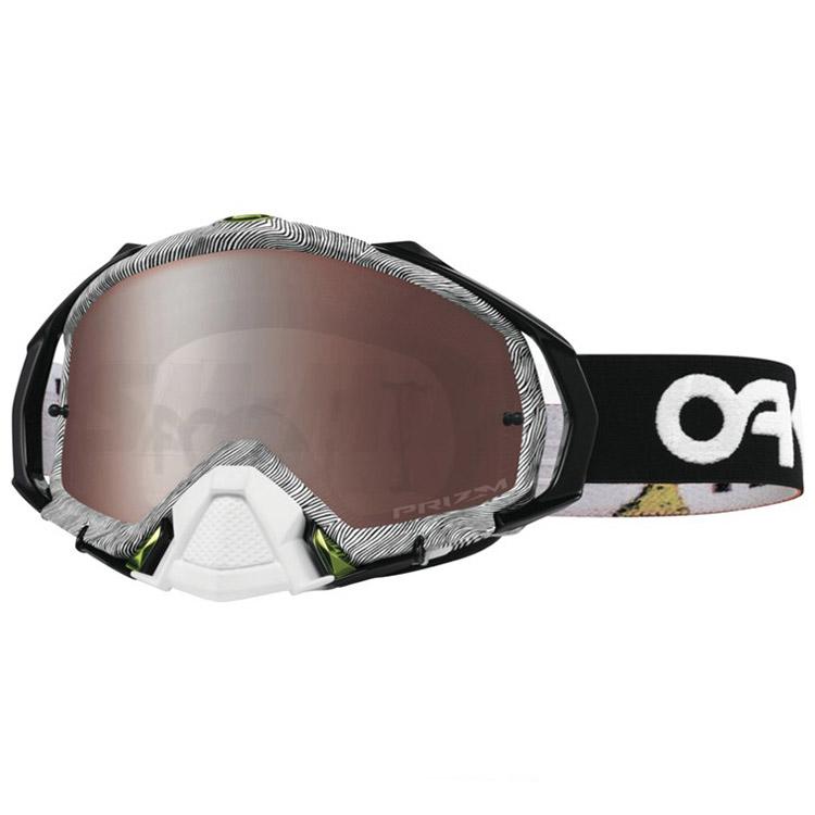 Oakley - Mayhem Pro Thumbprint очки черно-белые, линза черная Prizm MX