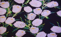 Тюльпаны белые футер 2-х нитка
