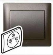 Накладка TV-FM-SAT розетки Legrand Galea Life Dark Bronze (арт.771273)