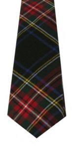 Истинно шотландский клетчатый галстук 100% шерсть , расцветка клан Стюарт Черный вариант