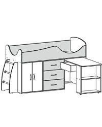Кровать-чердак Карлсон МИКРО-302