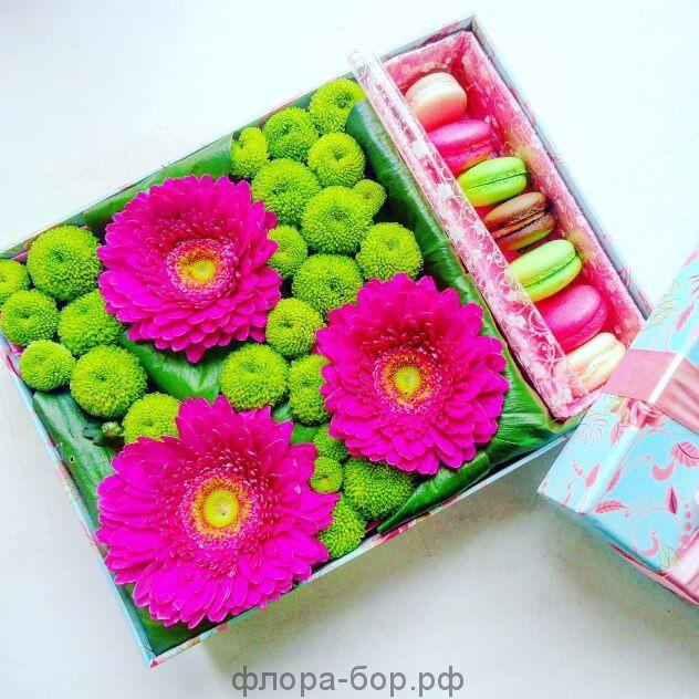 """Цветы в коробке """"Розовая мечта"""""""