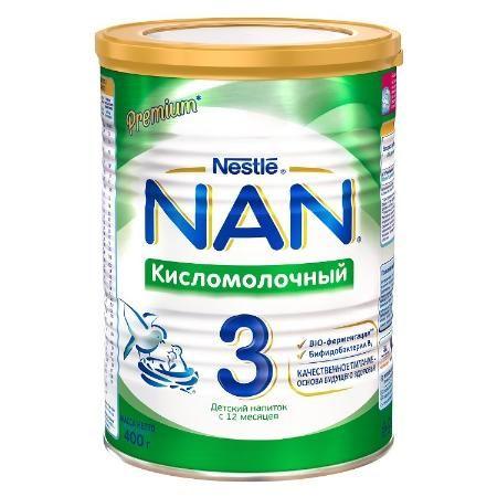 Детское молочко NAN 3 кисломолочный (с 12 мес.) 400 г.