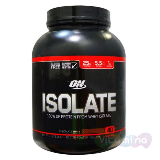 ​Изолят Optimum Nutrition Isolate GF 3lb (1,36 кг)